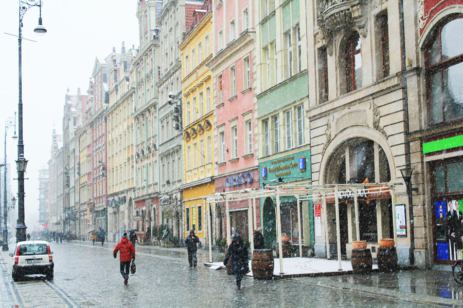 The streets of Wroclaw