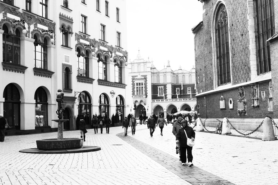 Exploring the streets of Krakow