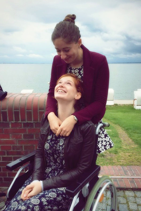 My amazing sister made my time in the wheelchair much more bearable.