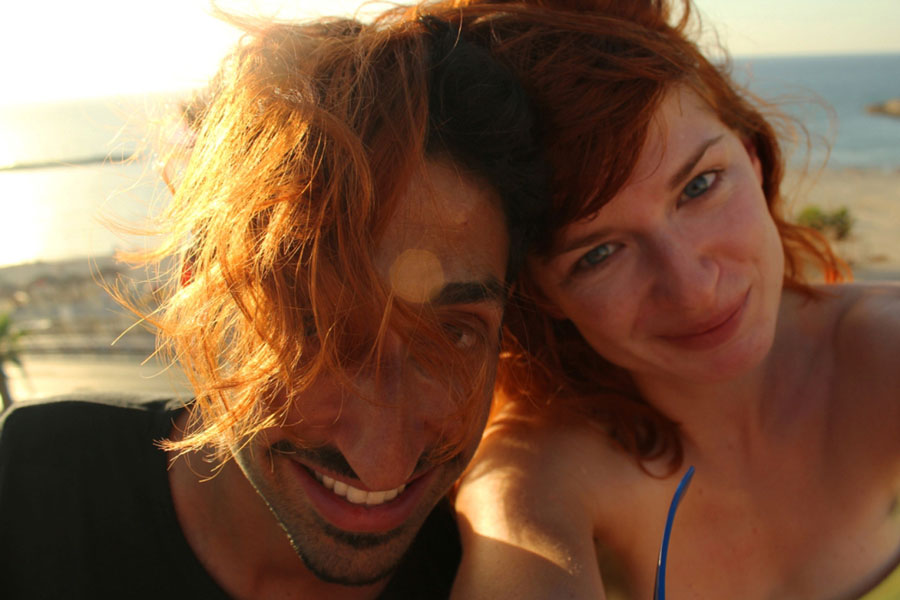 my Israeli Couchsurfing host and I