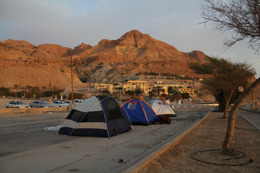 camping at the dead sea