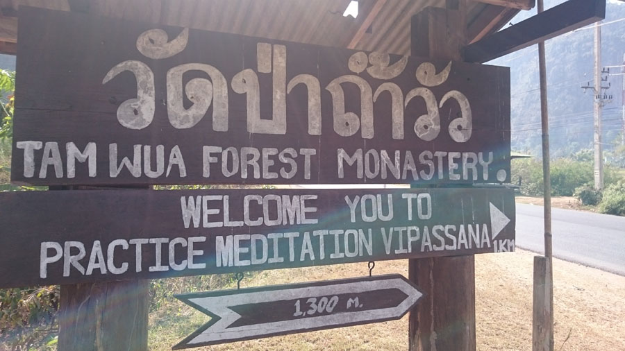living in a thai monastery: Wat tam wua forest monastery
