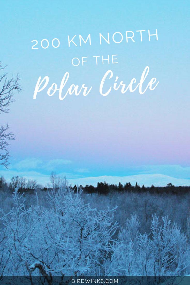200 km north of the polar circle