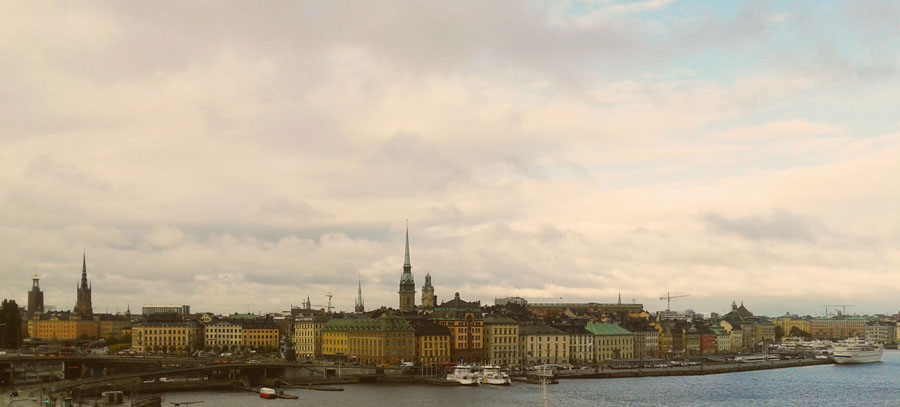 The skyline of Stockholm.