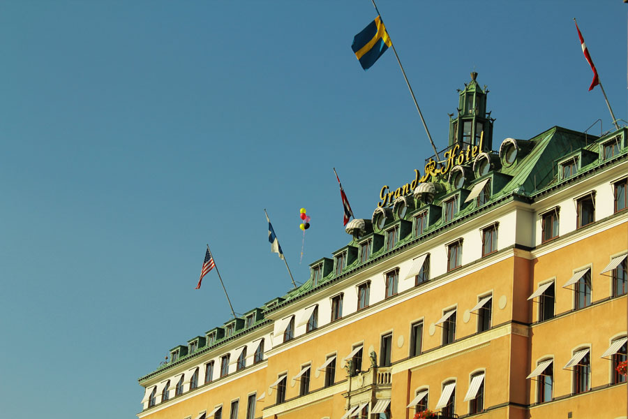 The Grand Hotel of Stockholm.