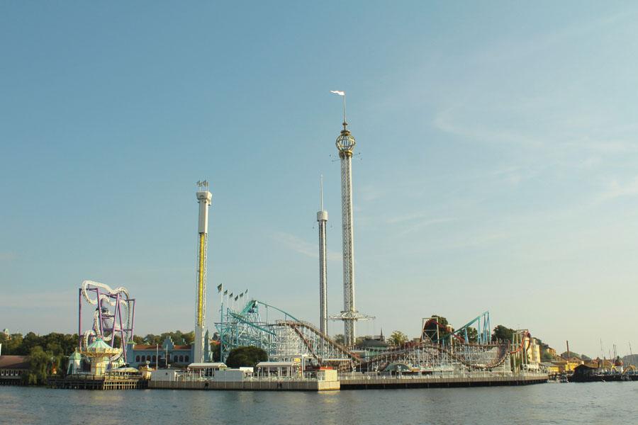 View of Gröna Lund, Stockholm's Fun Fair.