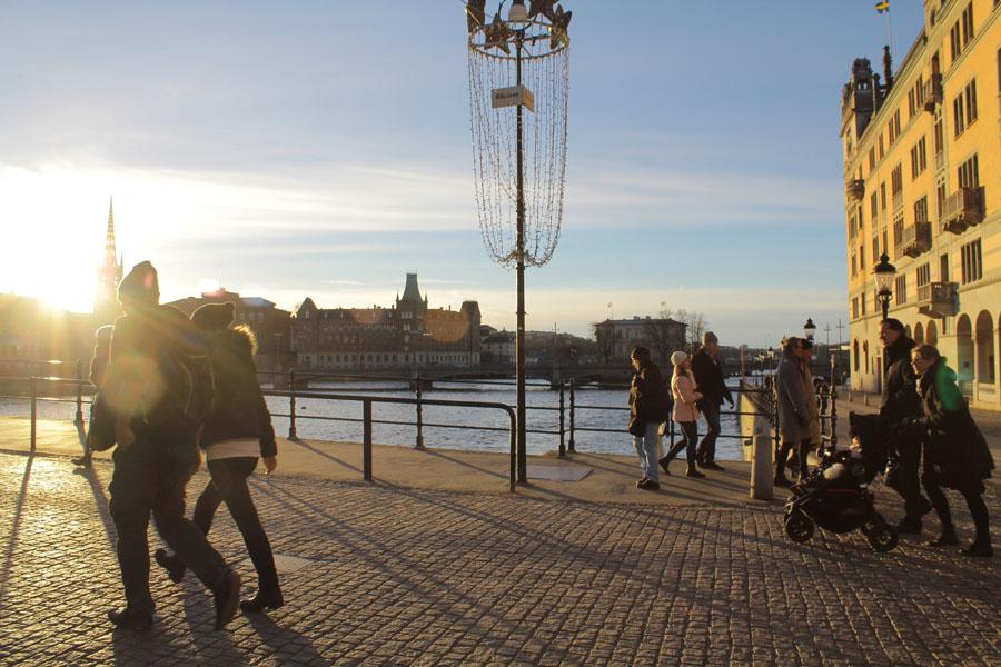 Wandering Gamla Stan in Stockholm.