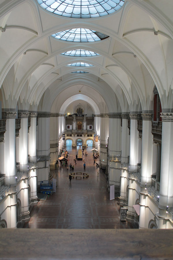 Visiting Nordiska Museet in Stockholm.