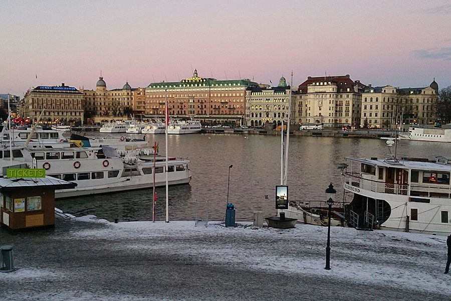 View over Stockholm's Gamla Stan.
