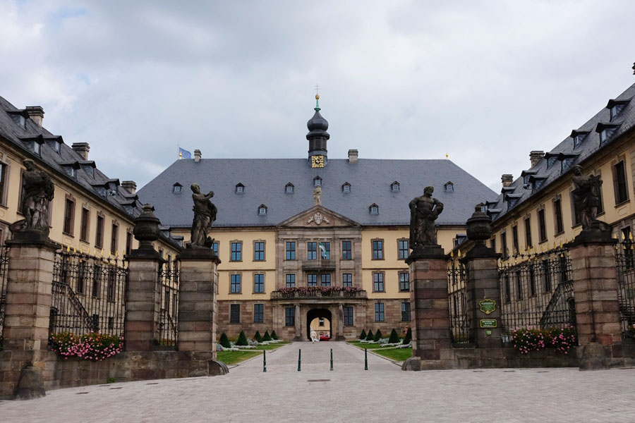 The castle of Fulda, a town along BahnRadweg Hessen.