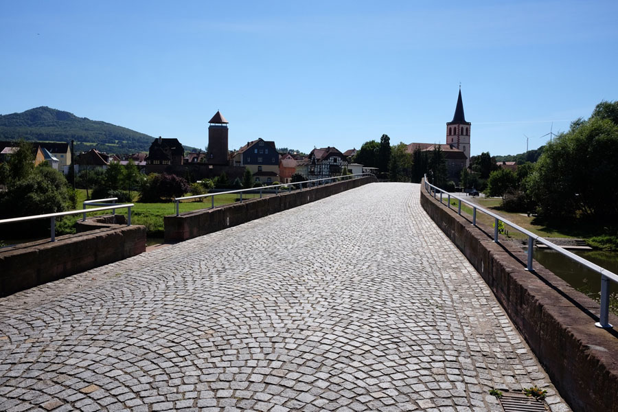 The Verrabrücke of Vacha along BahnRadweg Hessen.