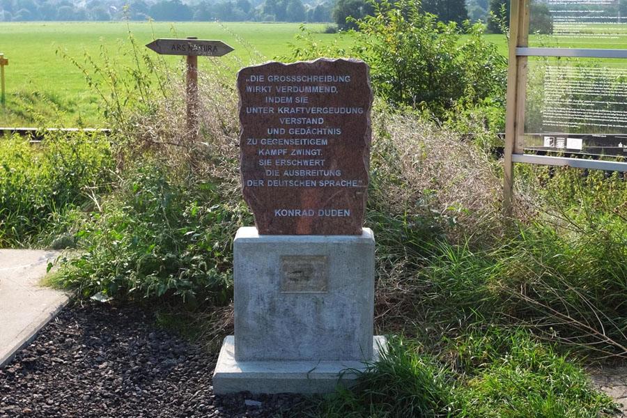 Stones with quotes along BahnRadweg Hessen.