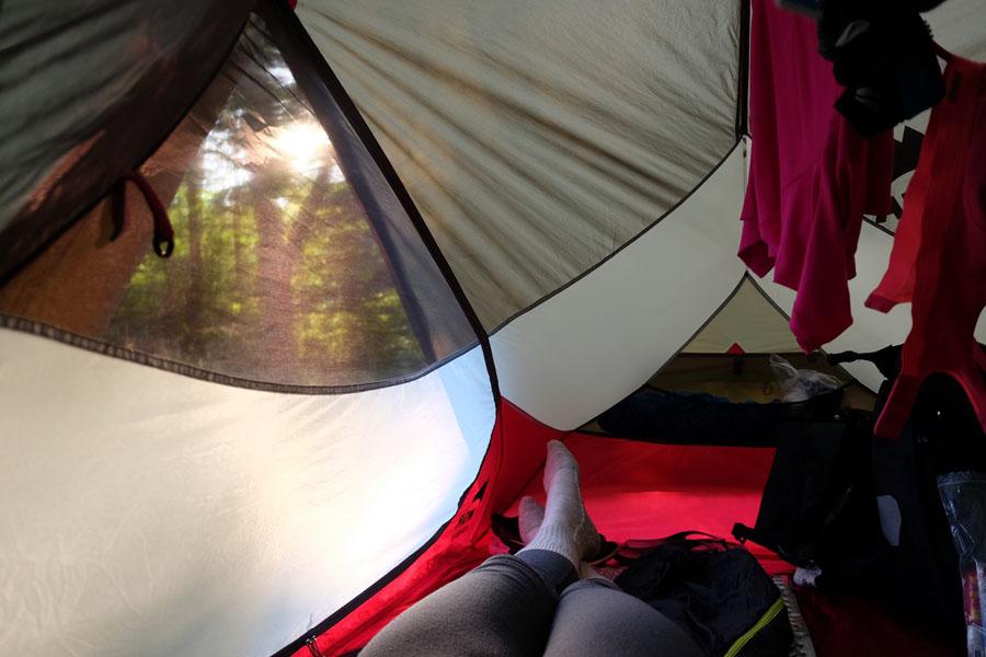 Camping on BahnRadweg Hessen.