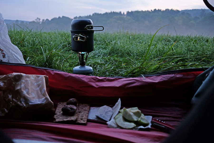 Last night camping on BahnRadweg Hessen.