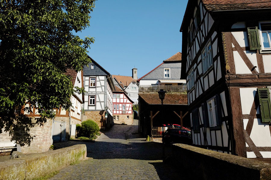 Cute villages along the BahnRadweg Hessen