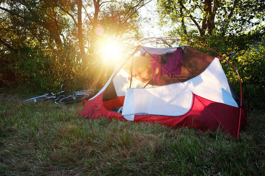 Camping during my cycling tour on the BahnRadweg Hessen