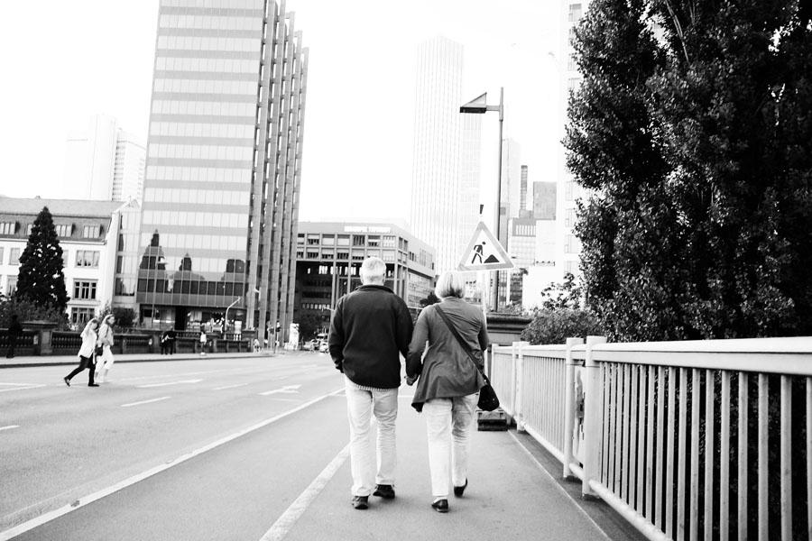 Taking a stroll through Frankfurt.