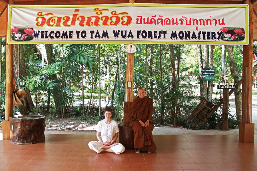 Living in a Thai Monastery: The head monk and I.