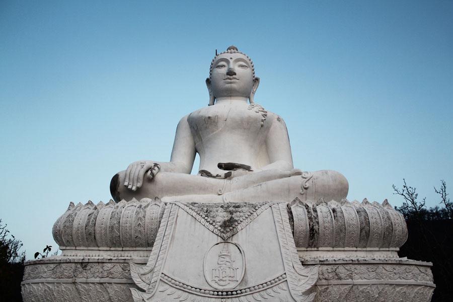 The Buddha in Pai, a city along the Mae Hong Son Loop.