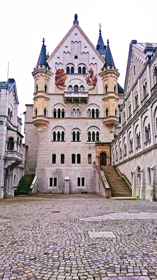 The castle of Neuschwanstein that I visited during my roadtrip.