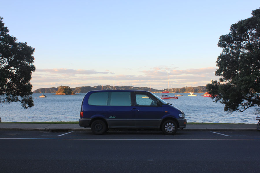 Our campervan at New Zealand's Bay of Islands.