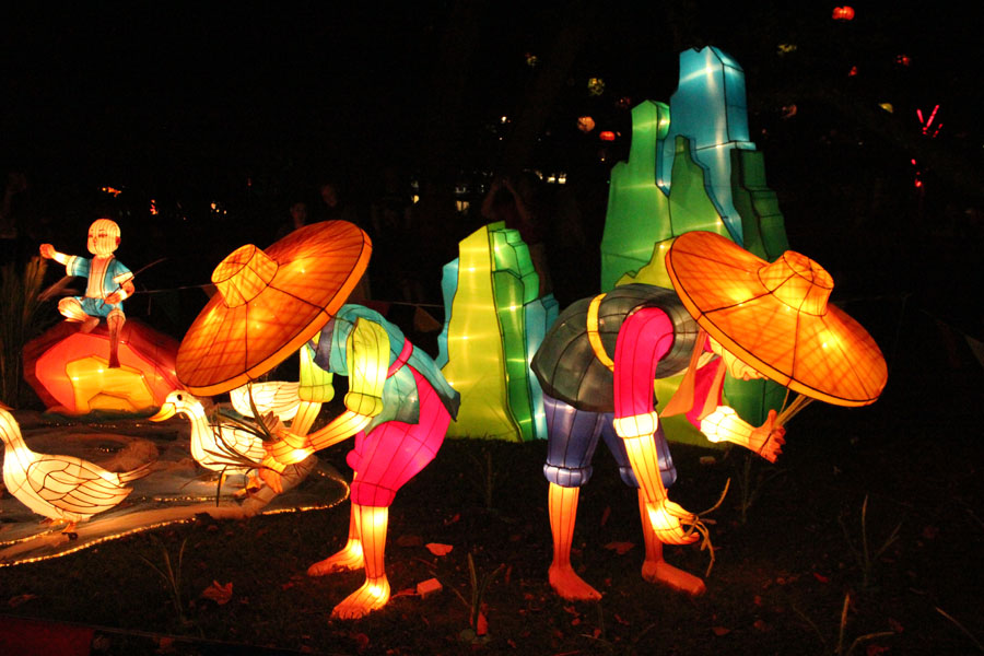 The lantern festival in Auckland, New Zealand.