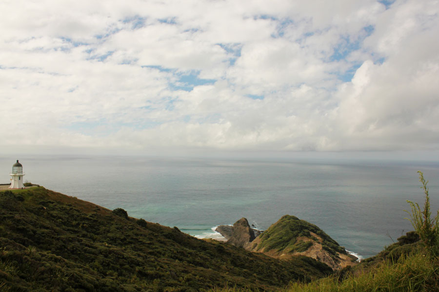 Lighthouse of Cape Reinga, New Zealand.