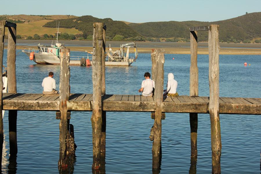 Fishing in Pukenui, New Zealand.