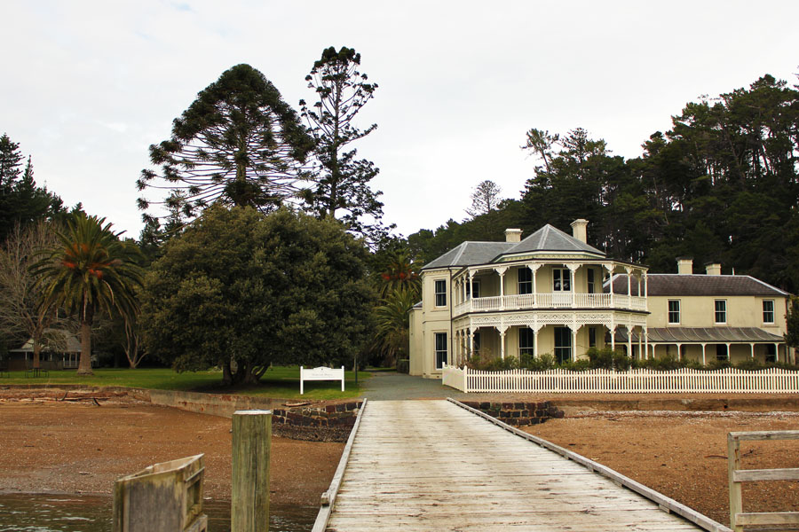 Mansion around Martin's Bay, New Zealand.