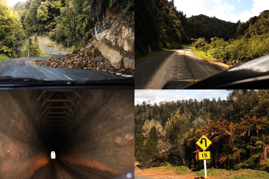 Adventurous roads of New Zealand.