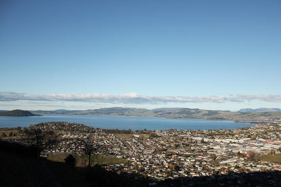 View over Rotorua, New Zealand.