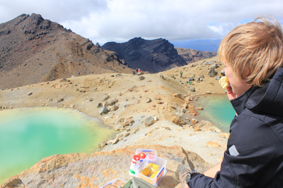 Green Pools at the Tongariro Crossing in New Zealand.