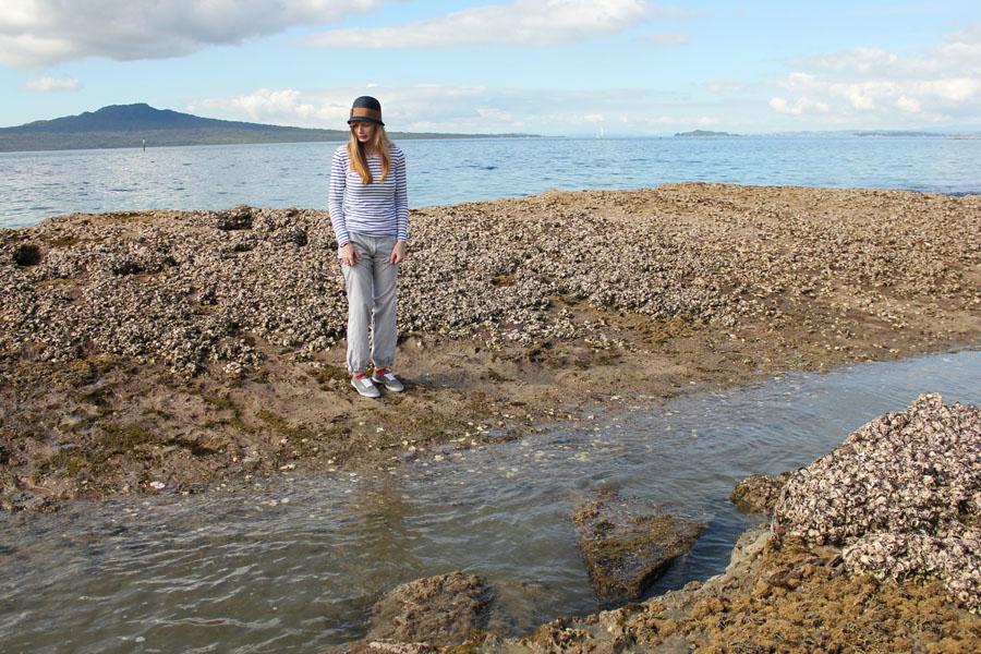 Takapuna Beach in New Zealand.
