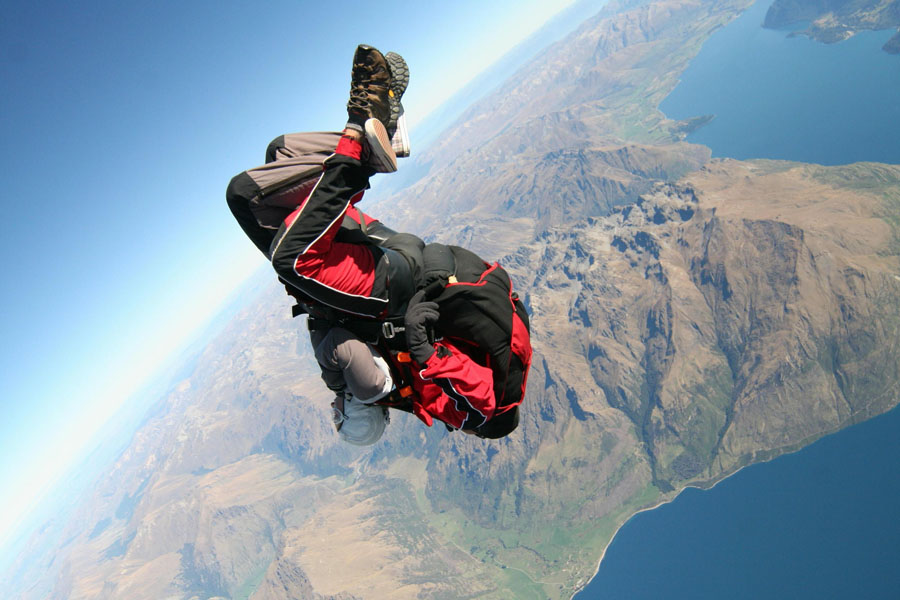 skydiving in Queenstown, New Zealand