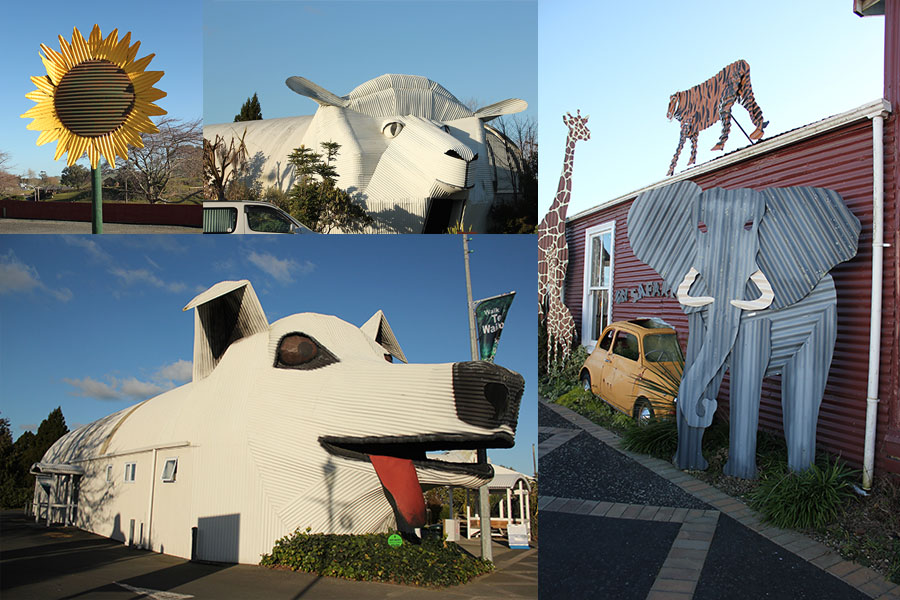 Houses of Tirau, New Zealand