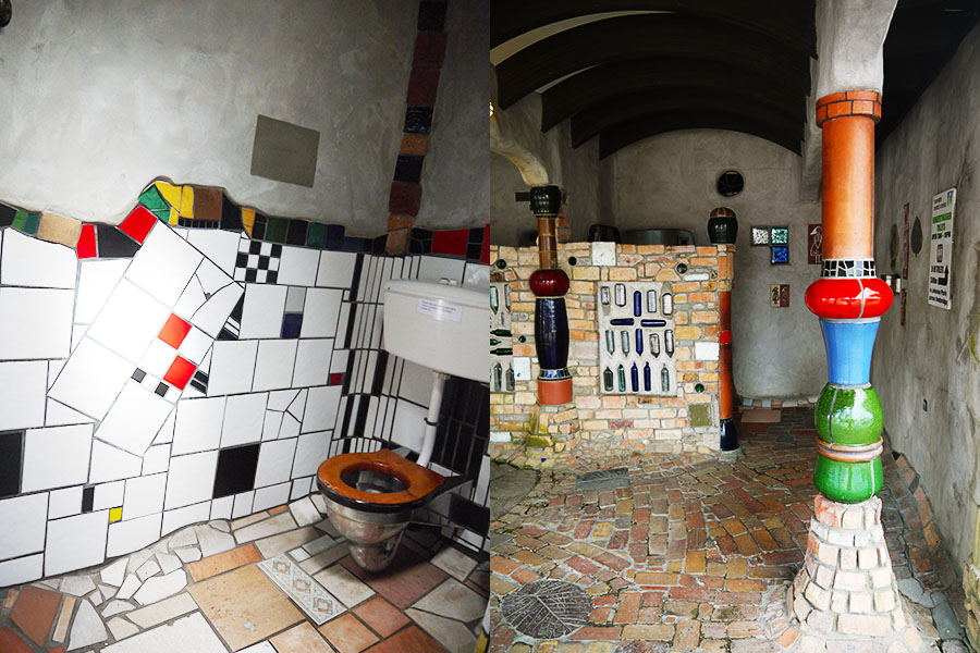 Hundertwasser Toilets in New Zealand