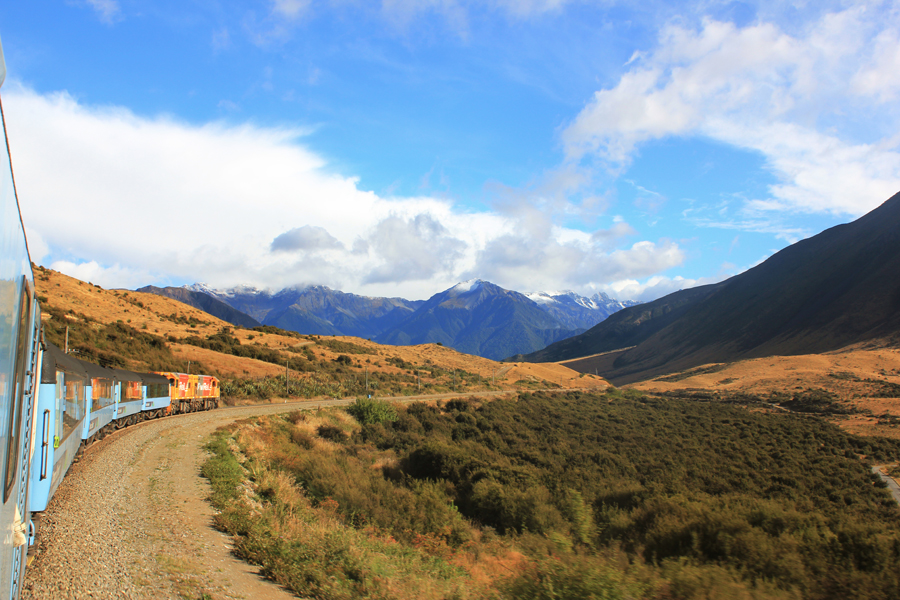 Tranzalpine Train on New Zealand's South Island