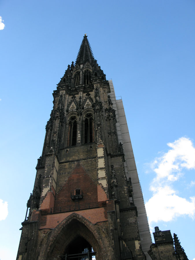St. Nikolai Church in central Hamburg