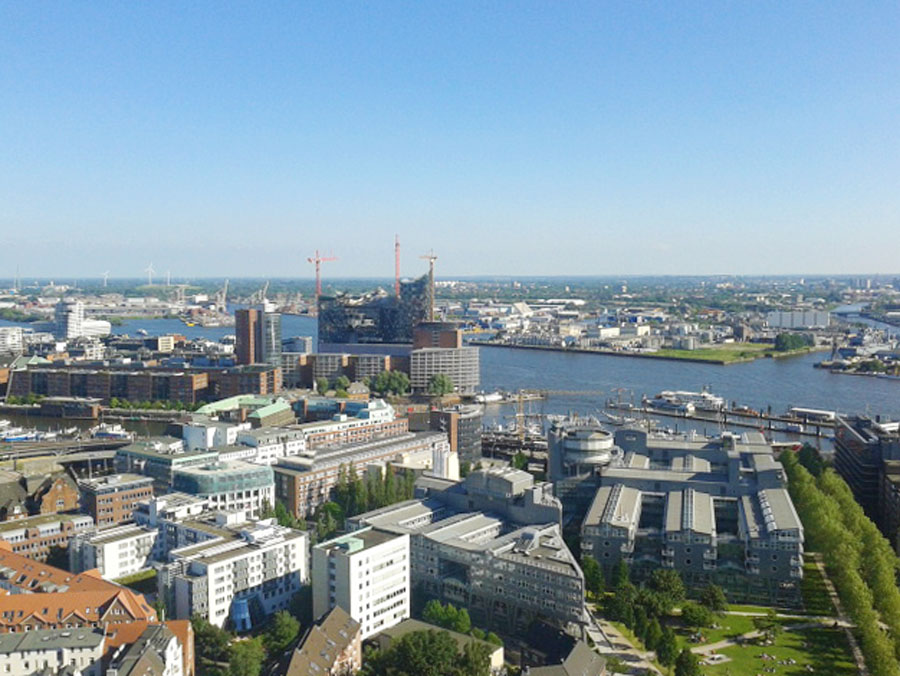 Germany's best city: view over Hamburg's Harbor