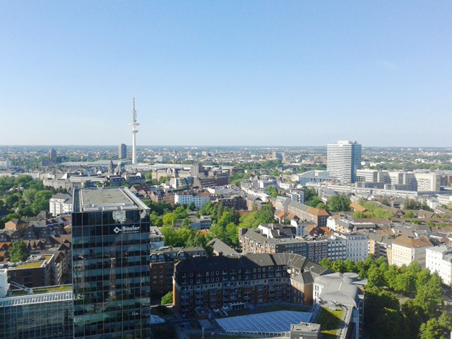 Germany's best city: view over Hamburg's city center