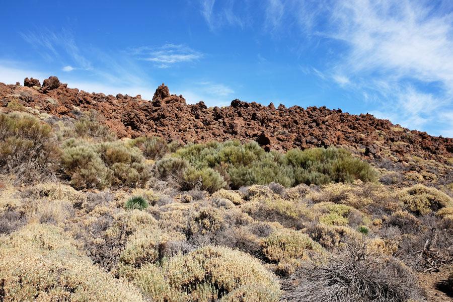 Rock formations on Mount Teide