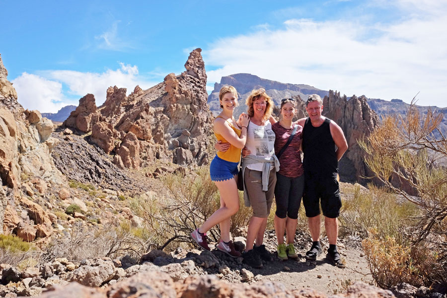 Outdoor Family portray on Mount Teide