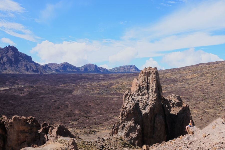 Mars-like landscape on Mount Teide