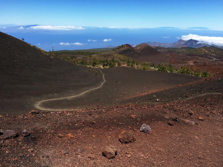 A walking path on Mount Teide