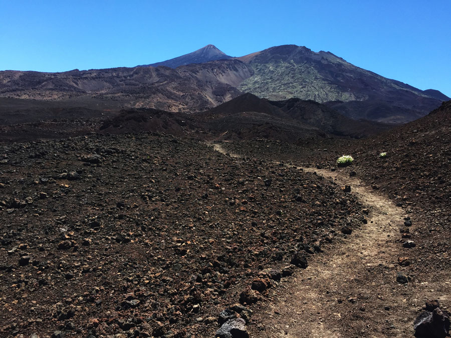 black landscape on Mount Teide
