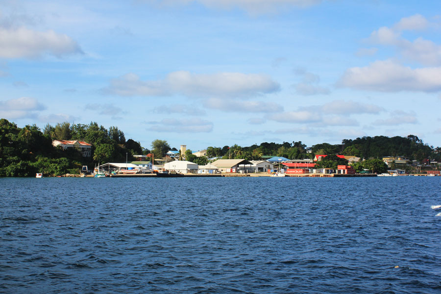 View of the port of Neiafu, Tonga.