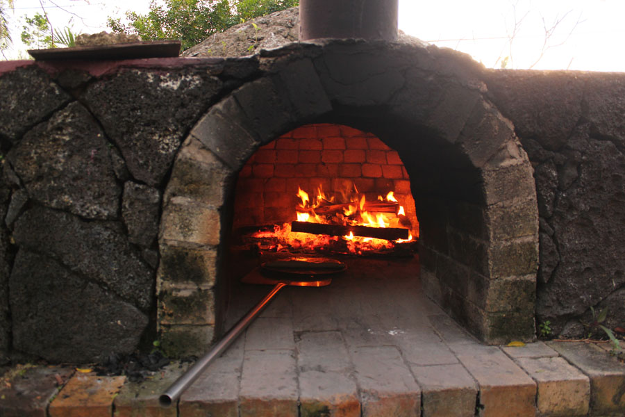 A traditional stoneoven in our guesthouse on Vava'u, Tonga.