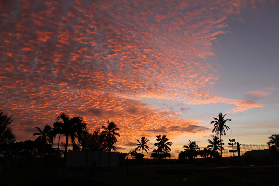 Beautiful sunset on Vava'u, Tonga.