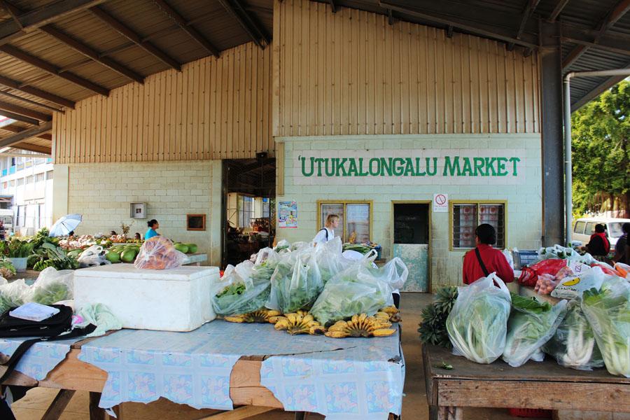 Neiafu Market on Vava'u, Tonga.