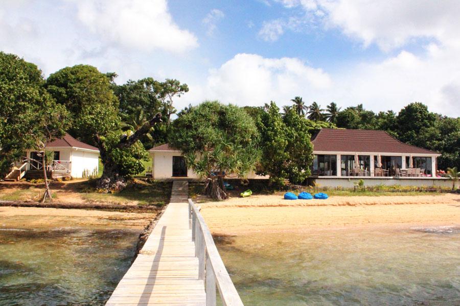 View of the Reef Resort on vava'u, Tonga.